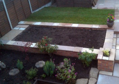 Completed raised bed.