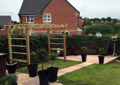The new pergola also adds height to the garden.