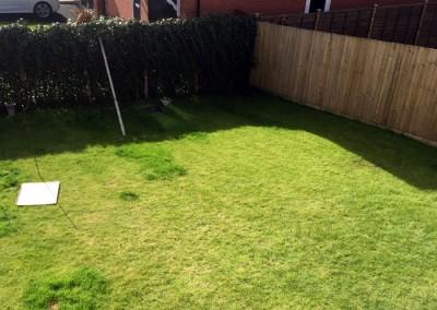 Existing rear lawn.
