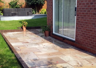 Completed garden patio.
