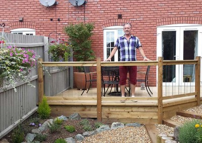 David Asley (Managing Director of Alfresco Landscaping and Construction) tries out the deck.