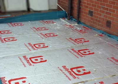 Ballytherm insulation sheets are added to floor.