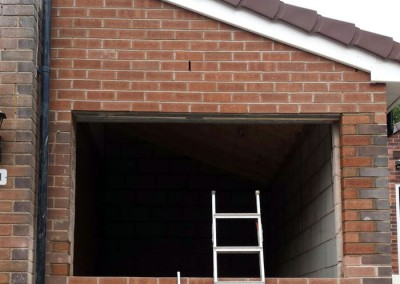 Brickwork and roof complete.