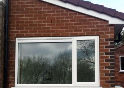 Garage is weatherproof following installation of new window.
